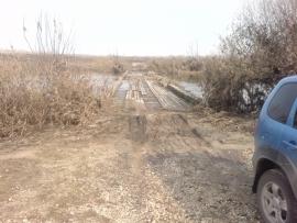 В Ряжском районе от воды освободился низководный мост