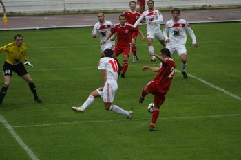 Как сыграли наши в футбол c fk;bhjv