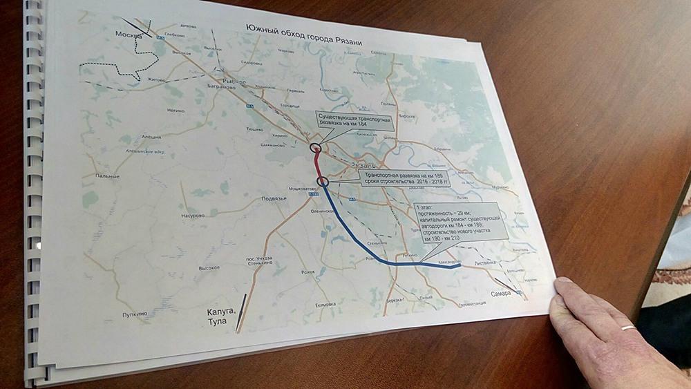 Южный обход рязани схема новая на карте