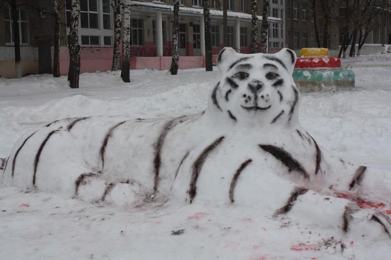 Фигуры из снега своими руками на 2017