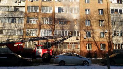 Вдесятиэтажном доме вцентре Рязани горела квартира