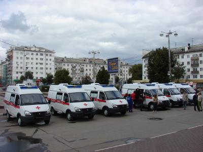 Рязанская область получила семь машин «скорой помощи»