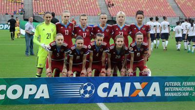 Женская сборная Российской Федерации  потерпела разгромное поражение отбразильянок