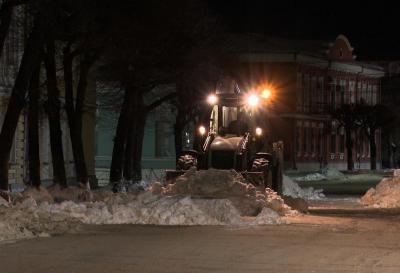 Занеделю срязанских улиц вывезли три тысячи кубометров снега