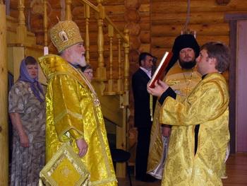 Архиепископ Рязанский и Касимовский Павел совершил Божественную литургию в селе Вакино Рыбновского района
