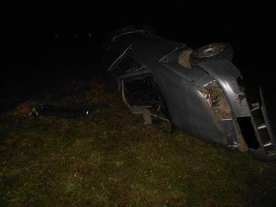 Ночью близ Михайлова «десятка» упала вкювет, шофёр умер