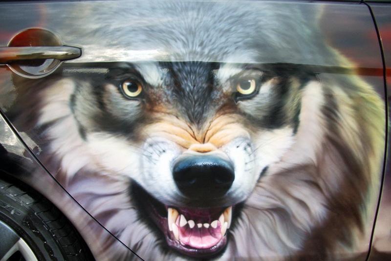 Картинки с волком на авто