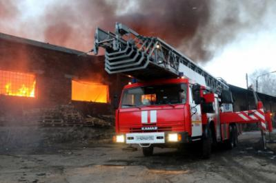 Пожар впроизводственном помещении вРязани